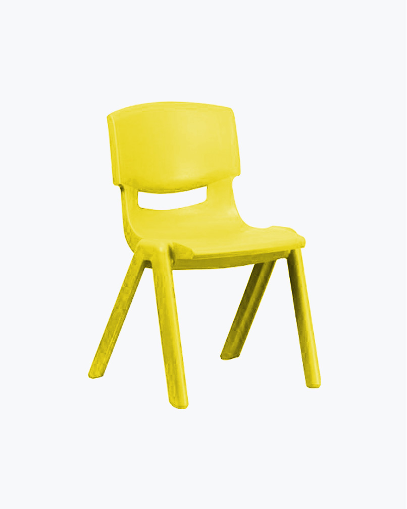 Plastic Chair Small Yellow