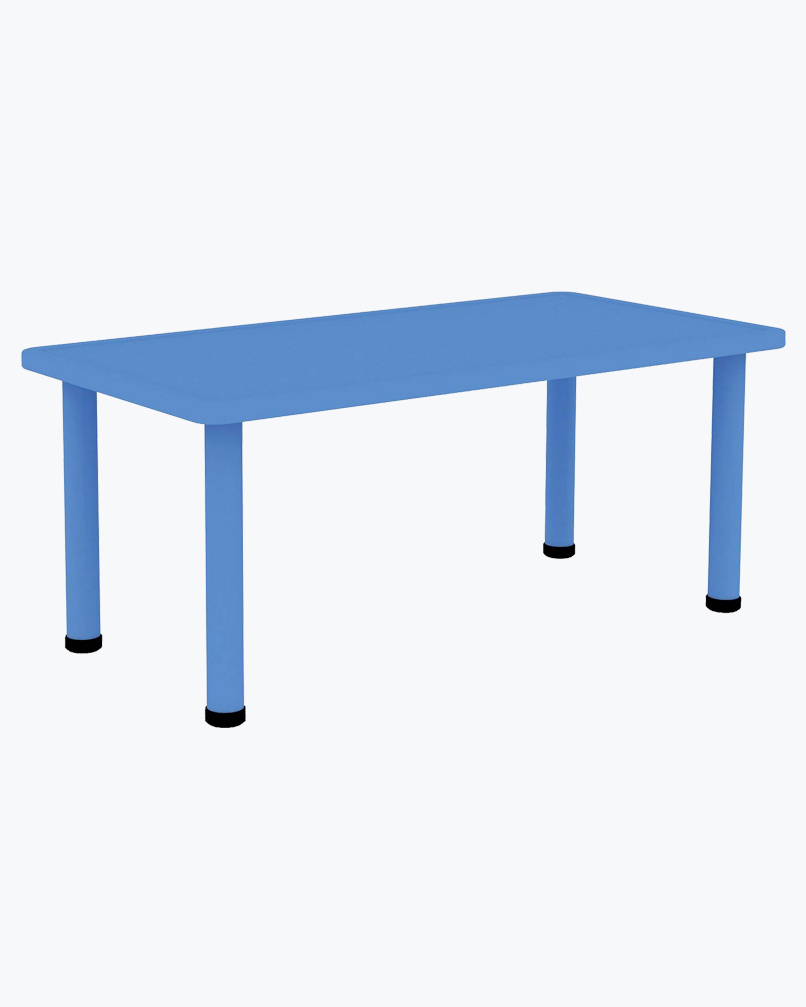Rectangle Table (Without Chairs) Blue