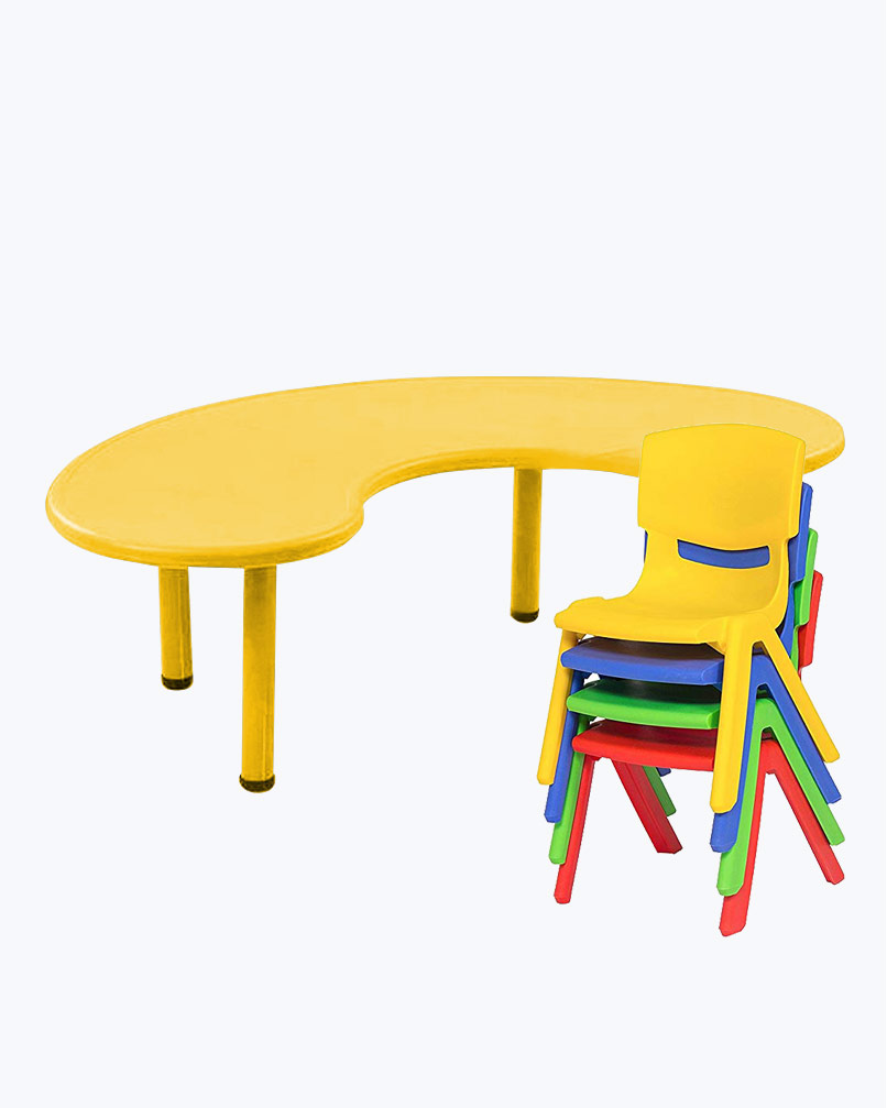 Front Round Table (XL) Without Chair Yellow
